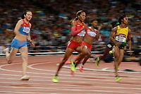 LONDON OLYMPIC GAMES 2012 - OLYMPIC STADIUM , LONDON (ENG) - 07/08/2012 - PHOTO : JULIEN CROSNIER / KMSP / DPPI<br /> ATHLETICS - WOMEN'S 200M - SANYA RICHARD-ROSS (USA)