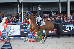 Andersson Petronella (SWE) - Hilgarie<br /> Final 7 years<br /> FEI World Breeding Jumping Championships for Young Horses - Lanaken 2014<br /> © Dirk Caremans