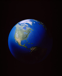 View of earth from space.  Model globe. CONCEPT STOCK PHOTOS