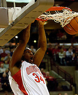 PHOTO BY DAVID RICHARD.Ohio State's Terence Dials slam dunks two of his 19 points in the Buckeyes' 69-53 Big Ten win over visiting Illinois Sunday.