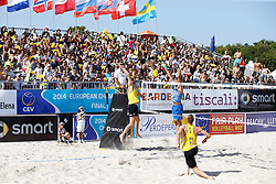 20140607 ITA: EK Beachvolleybal, Cagliari<br /> Jon Stiekema, Christiaan Varenhorst <br /> ©2014-FotoHoogendoorn.nl / Pim Waslander