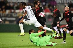 October 28, 2018 - Bordeaux, France - Francois Kamano (gir) vs Dante  (Credit Image: © Panoramic via ZUMA Press)
