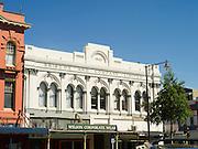 The historic Briscoe and Company Ltd building along Dee Street, Invercargill, New Zealand