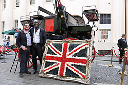 Left to right, NEILL STRAIN and ERROL DOUGLAS at a street party to celebrate HM The Queen Elizabeth 11 Diamond Jubilee held in Motcomb Street, London on 30th May 2012.