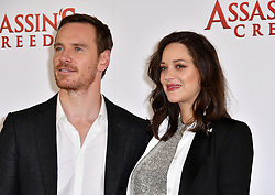 December 8, 2016 - London, London, United Kingdom - Image ©Licensed to i-Images Picture Agency. 08/12/2016. London, United Kingdom. Assassin's Creed Photocall. Photocall for Assassin's Creed with Marion Cotillard, Michael Fassbender, at Claridge's, London. Picture by Nils Jorgensen / i-Images (Credit Image: © Nils Jorgensen/i-Images via ZUMA Wire)