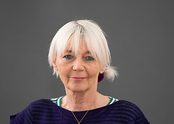 """Edinburgh, Scotland, UK; 18 August, 2018. Pictured; Diane Atkinson is a British historian and author. She brings her defining biography of the suffragettes, """"Rise Up Women"""" , the the Festival."""