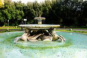 Fontana dei Cavalli Marini, Villa Borghese. Images of Rome, Italy during the Christmas Holidays.