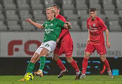 Tobias Bech (Viborg FF) under kampen i 1. Division mellem Viborg FF og FC Helsingør den 30. oktober 2020 på Energi Viborg Arena (Foto: Claus Birch).