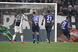 October 14, 2017 - Turin, Italy - Lazio forward Ciro Immobile (17) scores his goal by penalty kick during the Serie A football match n.8 JUVENTUS - LAZIO on 14/10/2017 at the Allianz Stadium in Turin, Italy. (Credit Image: © Matteo Bottanelli/NurPhoto via ZUMA Press)