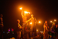 Fire Dancers on Burn Night 2014