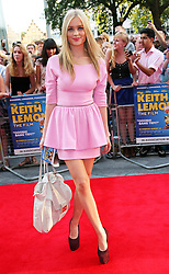 Laura Whitmore  arriving for the premiere of Keith Lemon The Film in London, Monday, 20th August 2012. Photo by: Stephen Lock / i-Images