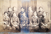 deteriorating school group portait Japan ca 1930s