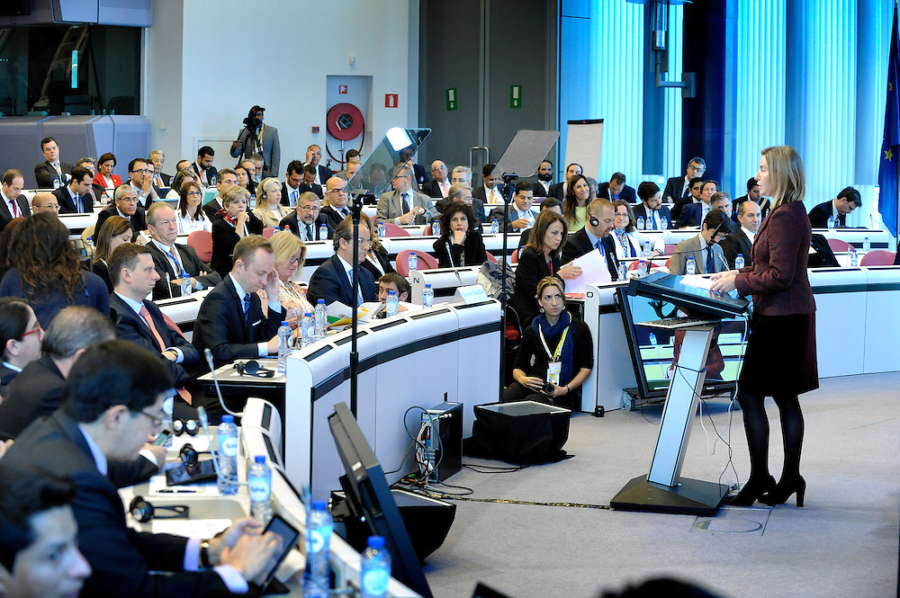 20150610- Brussels - Belgium - 10 June 2015 - EU-CELAC , Business Summit 2015- Ms. Federica Mogherini, High Representative of the Union for Foreign Affairs and<br /> Security Policy and Vice-President of the European Commission © EU/UE