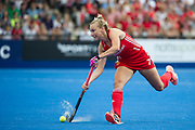 Hannah Martin. England v The Netherlands, Lee Valley Hockey and Tennis Centre, London, England on 11 June 2017. Photo: Simon Parker