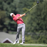 Jordan Spieth, USA, in action during the second round of The Barclays Golf Tournament at The Plainfield Country Club, Edison, New Jersey, USA. 28th August 2015. Photo Tim Clayton