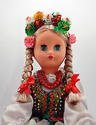 Bulgarian Doll on white background