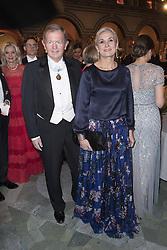 Marcus Wallenberg, Fanny Sachs <br /> <br />  <br /> <br />  beim Nobelbankett 2016 im Rathaus in Stockholm / 101216 <br /> <br /> <br /> <br /> ***The Nobel banquet, Stockholm City Hall, December 10th, 2016***