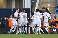 England celebrate scoring during the UEFA European Under 17 Championship 2018 match between England and Israel at Proact Stadium, Whittington Moor, United Kingdom on 4 May 2018. Picture by Mick Haynes.