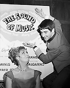 Maureen Toal and Jimmy Bartley advertising 'The Sound of Music'. The actress had a successful sixty-year career on stage and TV, including Abbey Theatre productions and TV's 'Glenroe'. Bartley has had roles in long-lasting TV series, including RTE's first soap, 'Tolka Row', and as Bela Doyle in 'Fair City'.<br /> 16/04/1970