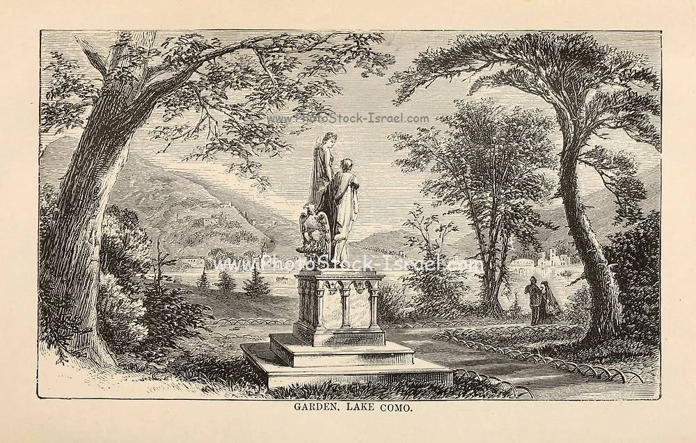 Garden Lake Como from the book Sights and sensations in Europe : sketches of travel and adventure in England, Ireland, France, Spain, Portugal, Germany, Switzerland, Italy, Austria, Poland, Hungary, Holland, and Belgium : with an account of the places and persons prominent in the Franco-German war by Browne, Junius Henri, 1833-1902 Published by Hartford, Conn. : American Pub. Co. ; San Francisco, in 1871