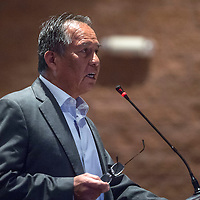 Chester Carl spent nine years as president of Navajo Housing Authority and addresses council members during the public hearing on Housing Issues and Concerns in Window Rock Wednesday.