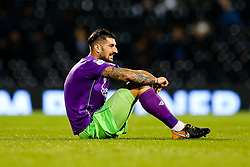 Eros Pisano of Bristol City is injured - Rogan/JMP - 31/10/2017 - Craven Cottage - London, England - Fulham FC v Bristol City - Sky Bet Championship.