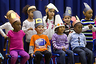 """Middletown, New York - Preschool and pre-K students perform in """"YMCA Thanksgiving Day Spectacular"""" on the stage at the Center for Youth Programs on Nov. 27, 2013."""