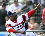 CHICAGO - APRIL 24:  Jimmy Rollins #7 of the Chicago White Sox looks on against the Texas Rangers on April 24, 2016 at U.S. Cellular Field in Chicago, Illinois.  The White Sox defeated the Rangers 4-1.  (Photo by Ron Vesely)   Subject: Jimmy Rollins
