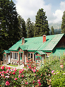 A hotel in the hills of Gulmarg, Kashmir, India
