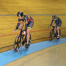28-12-2017: Wielrennen: NK Baan: Alkmaar<br />Finale NK Sprint Elis Ligtlee moet de titel aan Laurine van Riessen laten