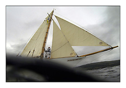Day one of the Fife Regatta, Round Cumbraes Race.<br /> <br /> Fiona, Didier Cotton, FRA, Gaff Cutter, Wm Fife 3rd, 2005<br /> <br /> * The William Fife designed Yachts return to the birthplace of these historic yachts, the Scotland's pre-eminent yacht designer and builder for the 4th Fife Regatta on the Clyde 28th June–5th July 2013<br /> <br /> More information is available on the website: www.fiferegatta.com