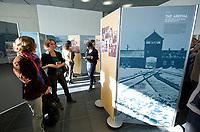 "DEU, Deutschland, Germany, Berlin, 19.10.2012:<br />Besucher der Ausstellung ""The Holocaust against the Sinti and Roma and Present Day Racism in Europe"" in der Stiftung Topographie des Terrors."