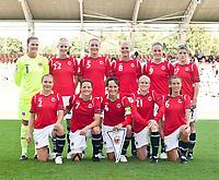 Fotball<br /> EM kvinner 2009<br /> Norge v Frankrike 1-1<br /> 30.08.2009<br /> Foto: Jussi Eskola, Digitalsport<br /> NORWAY ONLY<br /> <br /> Lagbilde Norge