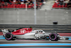 Charles Leclerc (Alfa Romeo Sauber F1 Team) rides during the qualifying session of Grand Prix de France 2018, Le Castellet, France, on June 23rd, 2018. Photo by Marco Piovanotto/ABACAPRESS.COM