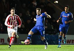 Rochdale's Oliver Lancashire  - Photo mandatory by-line: Matt McNulty/JMP - Mobile: 07966 386802 - 26/01/2015 - SPORT - Football - Rochdale - Spotland Stadium - Rochdale v Stoke City - FA Cup Fourth Round