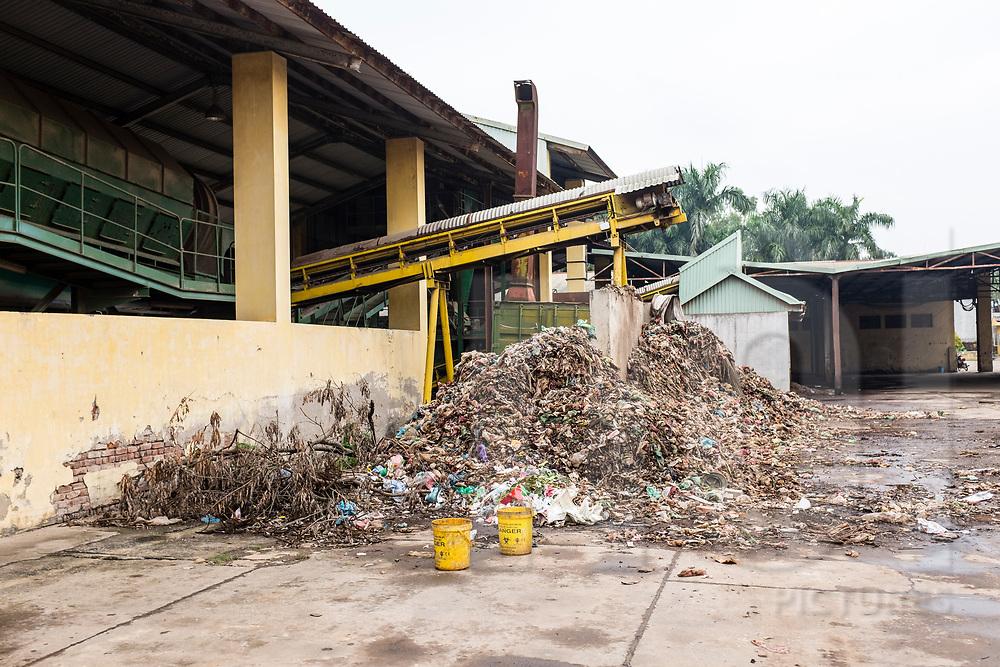 Compost plant of Cau Dien, a commune near Hanoi, Vietnam, Southeast Asia