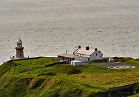 Baily Lighthouse. Viewed while hiking to Howth Head. Image taken with a Nikon 1 V1 camera and 30-110 mm VR lens.