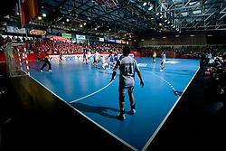 Arena at EHF Champions league handball match in Group II between RK Krim Mercator and Gyori Audi Eto KC, on February 7, 2009, in Kodeljevo, Ljubljana, Slovenia. Gyori won 35:31. (Photo by Vid Ponikvar / Sportida)