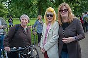 SHIRLEY O'LOUGHLIN; ( THE RAINCOATS) PAM HOGG; GINA BIRCH ( THE RAINCOATS ), Yoko Ono.- to the Light. Serpentine Gallery. London. 19 June 2012.