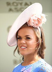 Eleanor Simmonds OBE presents the trophy for the Queen Mary Stakes during day two of Royal Ascot at Ascot Racecourse.