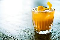 "(Vegan Cocktails) ""Silk Road Sour"" (Mandarin silk infused bourbon, lemon, orange, simple syrup) @ Revival."