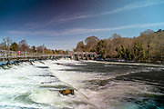 Maidenhead, Berkshire, United Kingdom, Wednesday, 21/04/2021, General View,  Boulters Weir, Ray Mill Island,  River Thames, Thames Valley, [Mandatory Credit; Pete Spurrier],