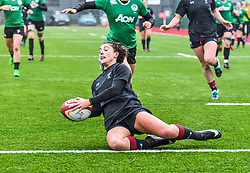 Wales women's Jessica Kavanagh-Williams scores her sides second try<br /> <br /> Photographer Craig Thomas/Replay Images<br /> <br /> International Friendly - Wales women v Ireland women - Sunday 21th January 2018 - CCB Centre for Sporting Excellence - Ystrad Mynach<br /> <br /> World Copyright © Replay Images . All rights reserved. info@replayimages.co.uk - http://replayimages.co.uk