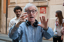 """FILE IMAGES: Woody Allen, Soon Yi and Alec Baldwin on the set of """"To Rome with love"""" in 2011. 30 Jul 2011 Pictured: Woody Allen. Photo credit: AM1999 / MEGA TheMegaAgency.com +1 888 505 6342"""