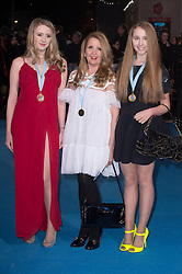"""Skylar McKeith-Magaziner, Gillian McKeith and Afton McKeith-Magaziner attends the European premiere for """"Eddie the Eagle at Odeon Leicester Square in London, 17.03.2016. EXPA Pictures © 2016, PhotoCredit: EXPA/ Photoshot/ Euan Cherry<br /> <br /> *****ATTENTION - for AUT, SLO, CRO, SRB, BIH, MAZ, SUI only*****"""