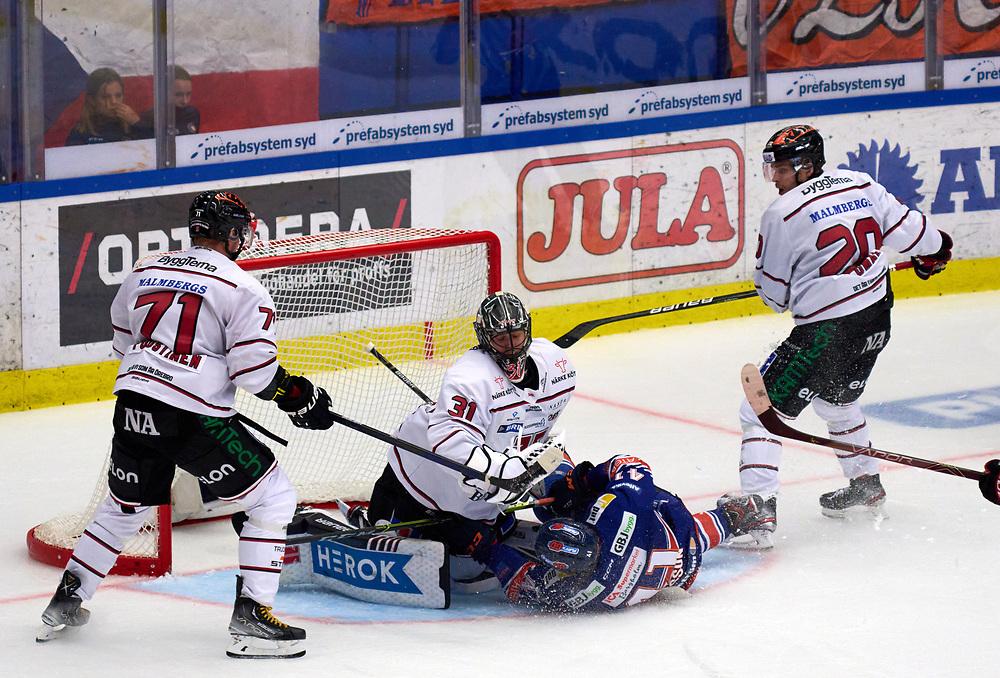 2021-09-16 VÄXJÖ<br /> Växjö Lakers - Örebro HK<br /> SHL Omgång 2<br /> SLUT  2 -3 efter förlängning<br /> <br />  ***betalbild***<br /> <br /> Foto: Peo Möller<br /> <br /> SHL, ishockey, Växjö Lakers, is, rink, spelare, hockey, hockeyspelare, Växjö, ishall, Vida Arena, SHL Premiär 2021
