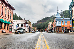The cool old mining town of Wallace Idaho.
