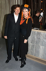 KATRINE BOORMAN and DANNY MOYNIHAN at a party to celebrate the opening of W'Sens - a new fine french restaurant at 12 Waterloo Place, London SW1 on 10th December 2004.<br />