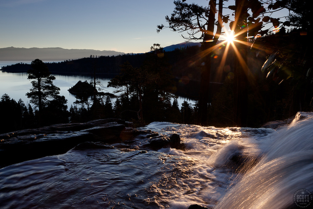"""""""Emerald Bay Sunrise 6"""" - This sunrise was photographed from Eagle Falls above Emerald Bay, Lake Tahoe."""