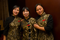 Three waitresses, Taijan Long Restaurant, Guanquin Street, Suzhou, China